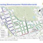 Vorschlag Bewohnerparken Waldstraßenviertel; Grafik: Stadt Leipzig, Verkehrs- und Tiefbauamt