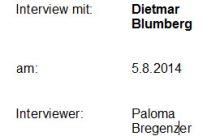 Interview mit Dietmar Blumberg