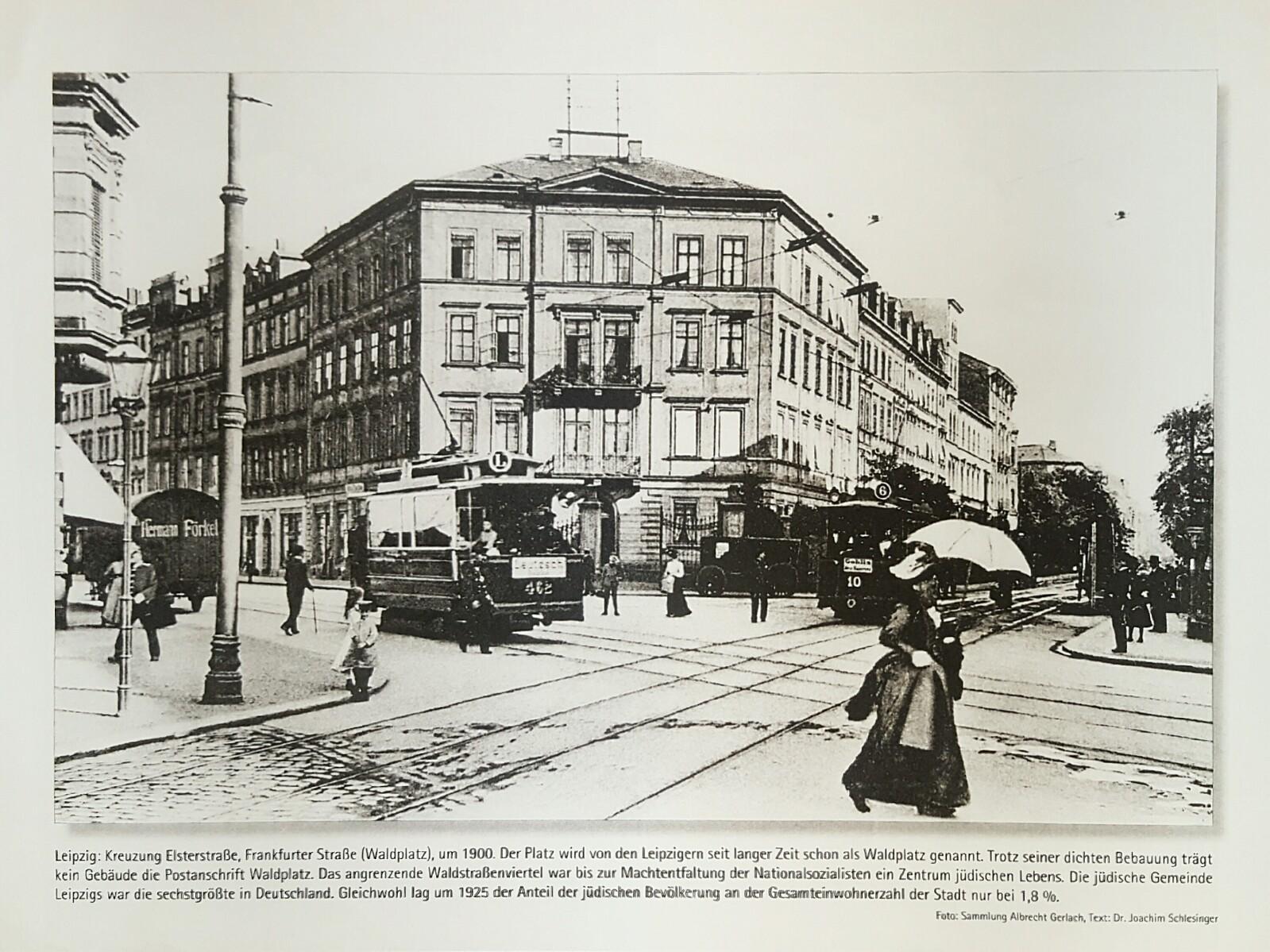 Die Elsterstraße 48 um 1900; Quelle: Bürgerverein Waldstraßenviertel e. V.