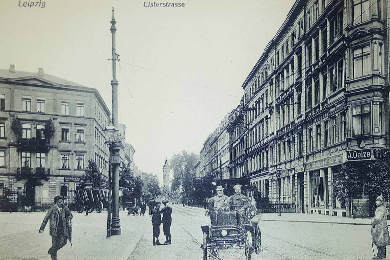 Die Elsterstraße 48 um 1910; Quelle: Bürgerverein Waldstraßenviertel e. V.
