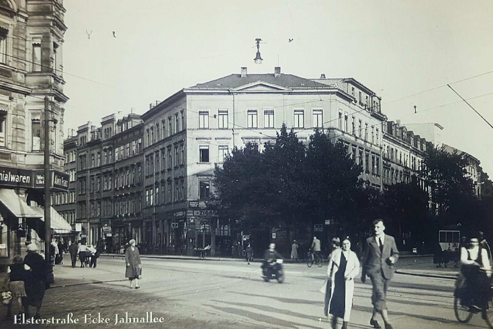 Die Elsterstraße 48 um 1930; Quelle: Bürgerverein Waldstraßenviertel e. V.