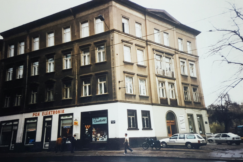 Die Elsterstraße 48 1992; Quelle: Bürgerverein Waldstraßenviertel e. V.