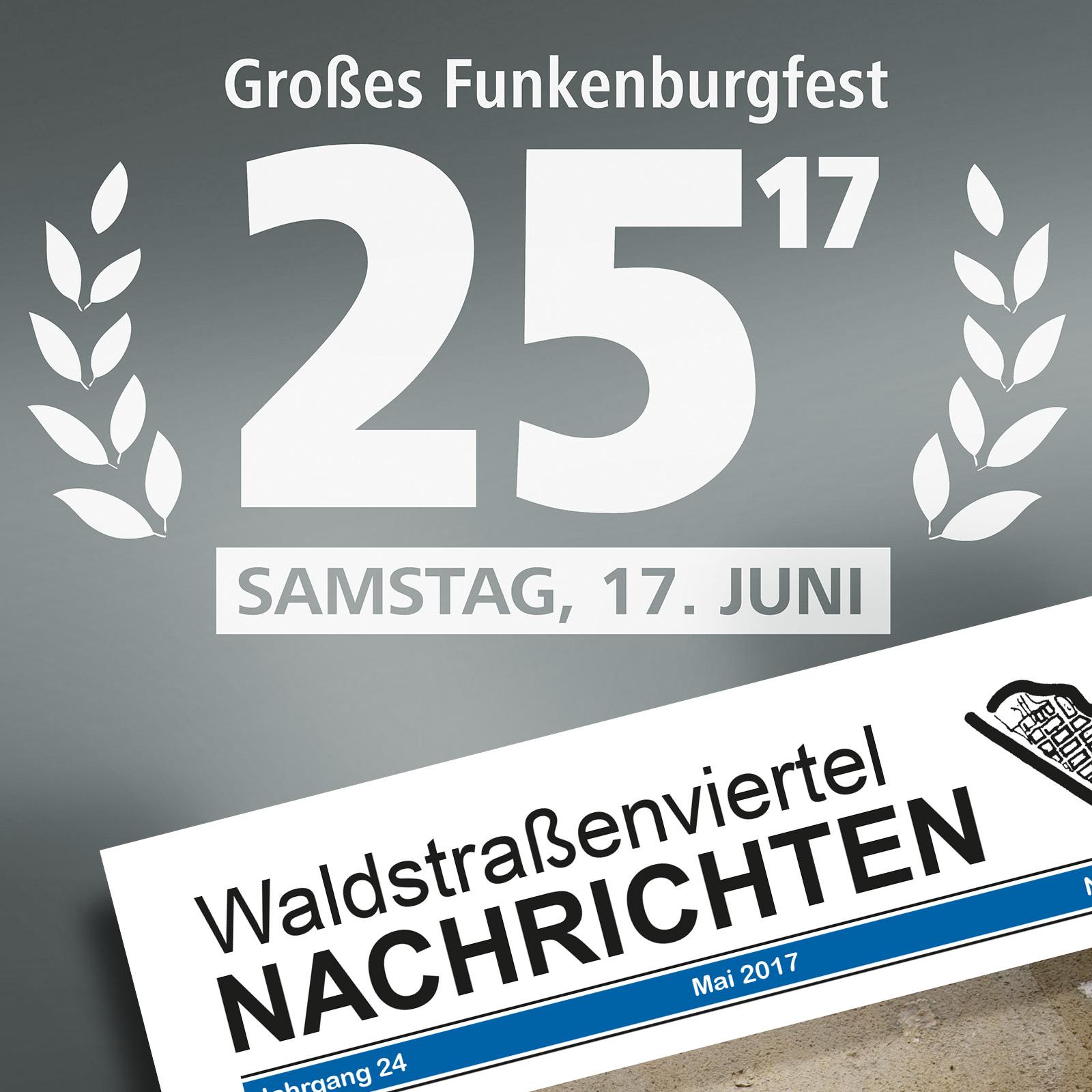 25. Großes Funkenburgfest Waldstraßenviertel Nachrichten Festausgabe Mediadaten