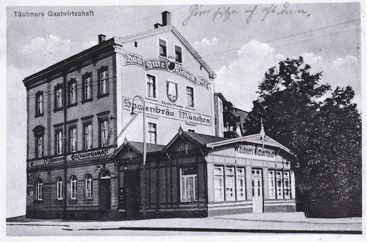 Jahnallee 33, erbaut 1862 (Historische Postkarte); Quelle: Archiv Ulrich Höna