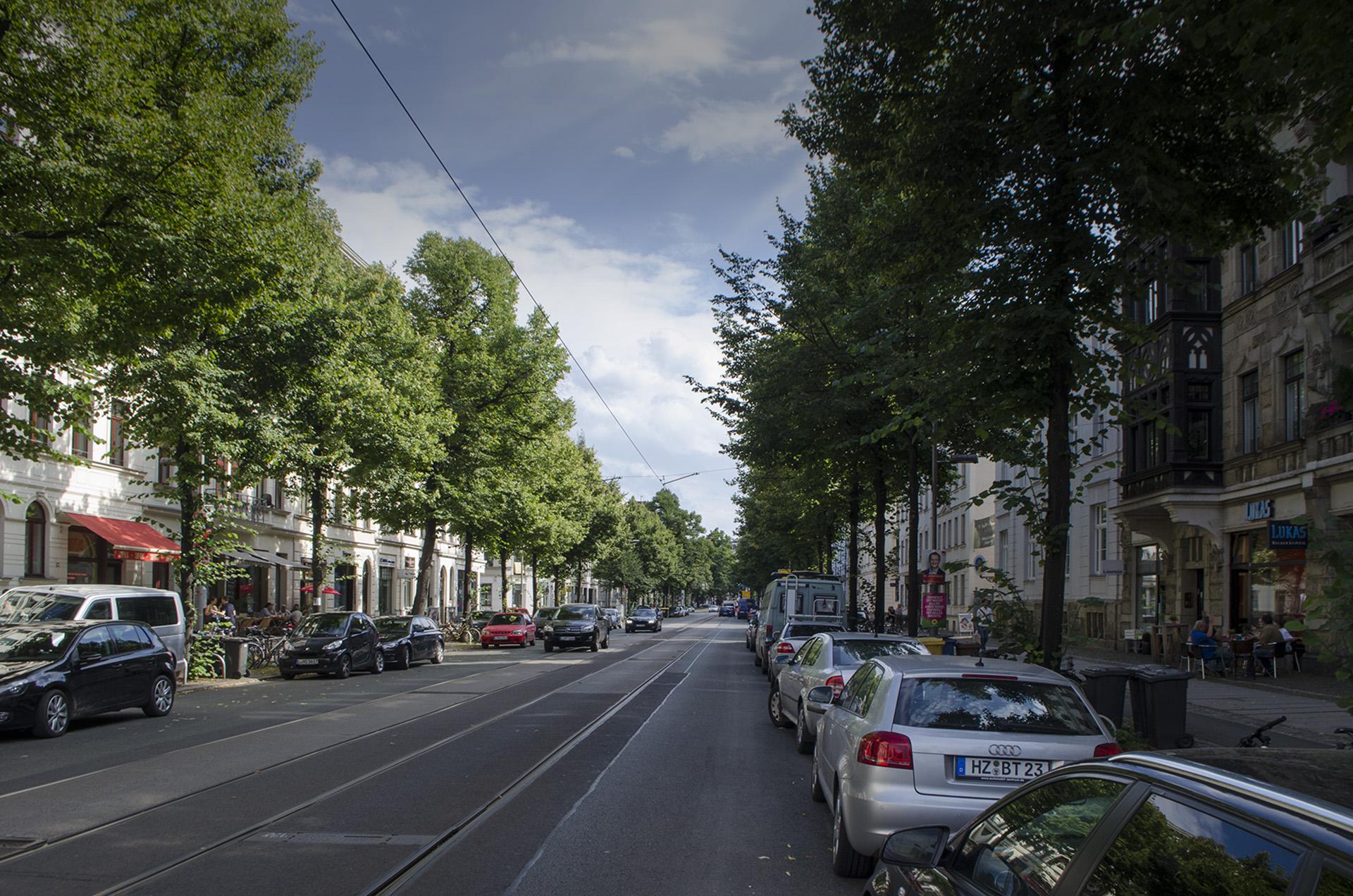 Waldstraße Leipzig; Foto: Andreas Reichelt