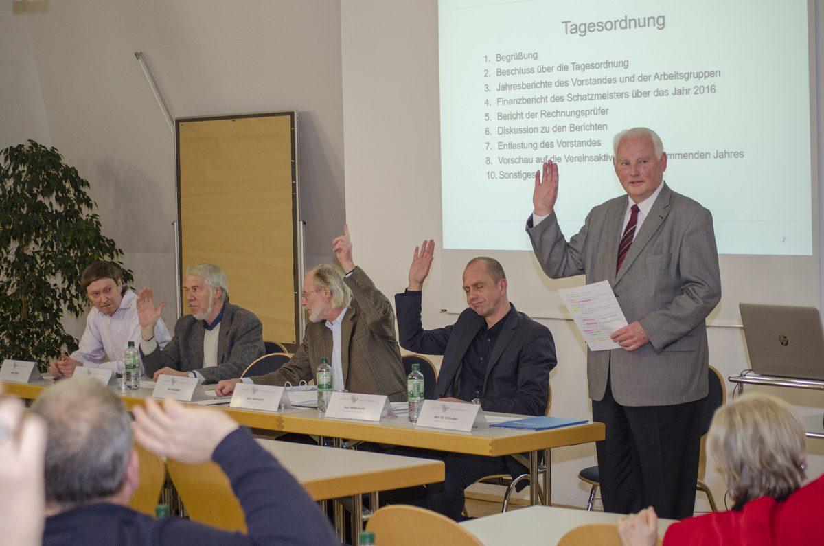 Mitgliederversammlung des Bürgervereins am 16.11.2017; Foro: Andreas Reichelt