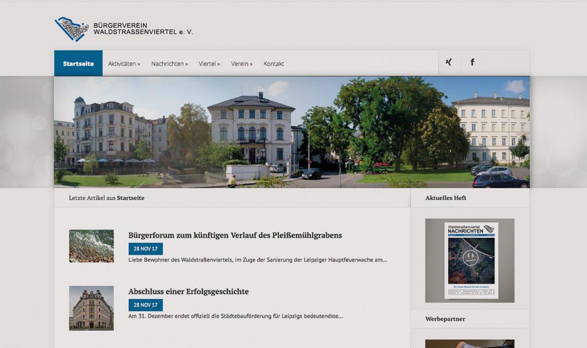 Screenshot www.waldstrassenviertel.de