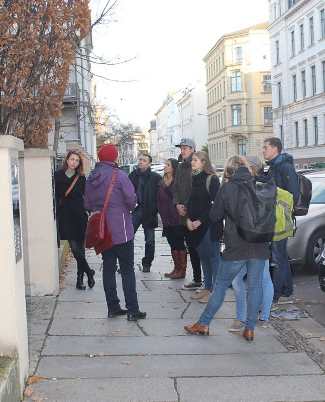 Lehramtsstudenten Fach Geschichte zu Besuch im Bürgerverein; Foto: Petra Cain