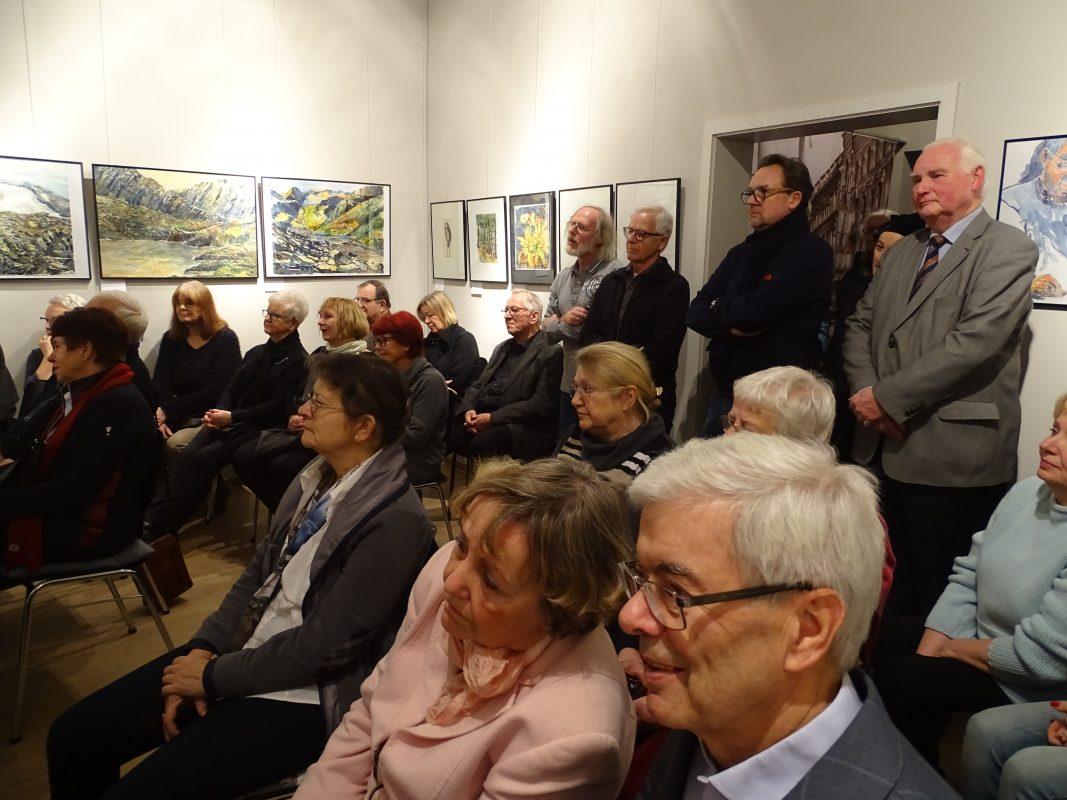 Impressionen der Vernissage am 17.01.2018 mit Bilder von Wolfgang Friebe, Foto: K. Futterlieb-Rose