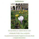 Einladung zum Frühlingsfest in der Gemeinschaftsunterkunft in der Waldstraße