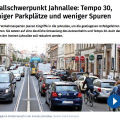 Unfallschwerpunkt Jahnallee: Die Stadt reagiert – endlich!