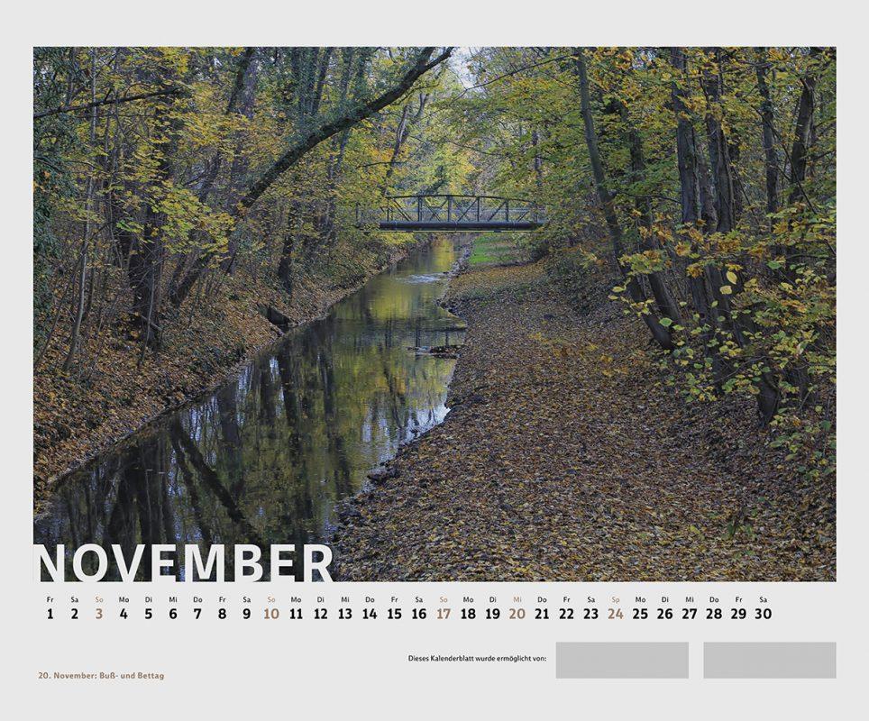 Waldstraßenviertel-Kalender 2019; Novembermotiv