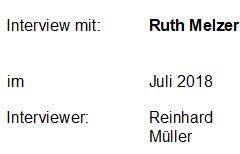 Interview mit Ruth Melzer