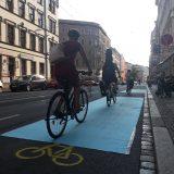 Radweg-Aktion auf der Jahnallee