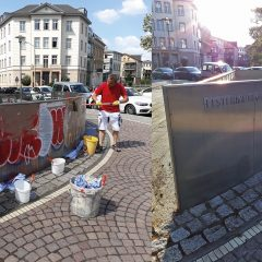 Graffiti beseitigt – danke an alle Spender