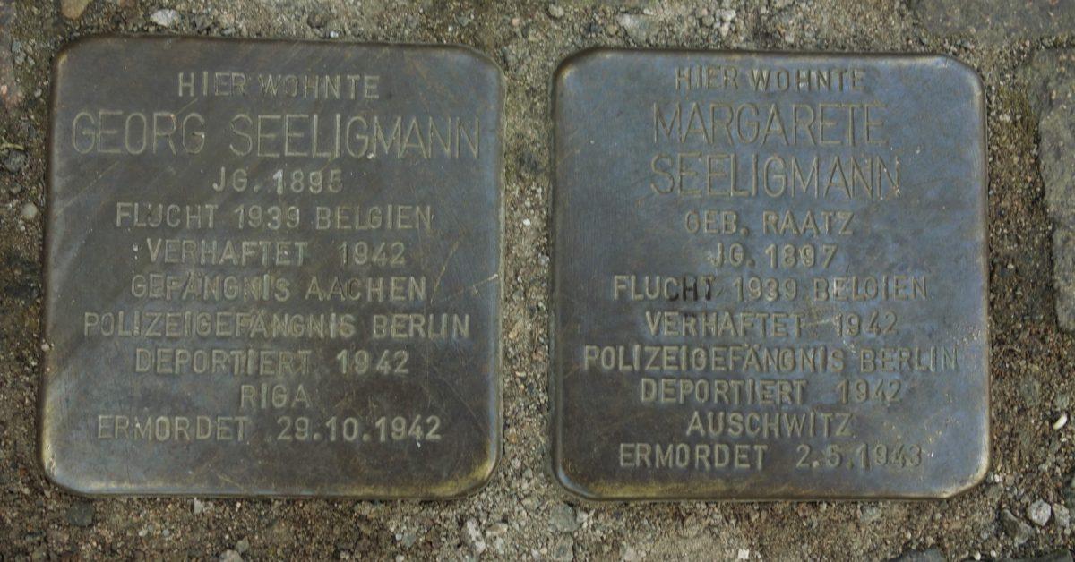 Stolpersteine in der Waldstraße 23; Foto: Jörg Philipp
