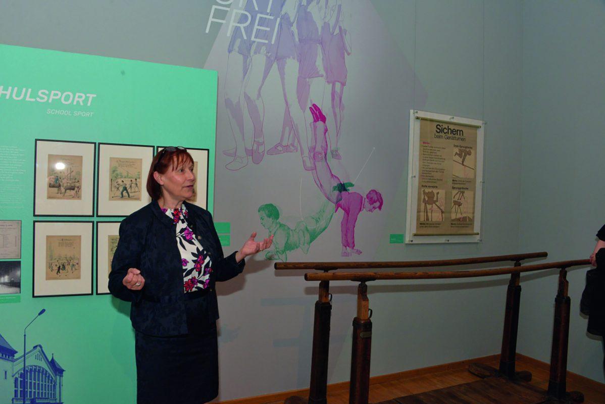 Dr. Gerlinde Rohr, scheidende Leiterin des Sportmuseums Leipzig; Foto: Bernd Görne