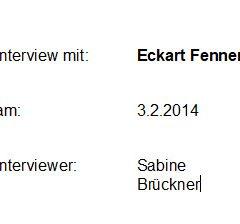 Interview mit Eckart Fenner