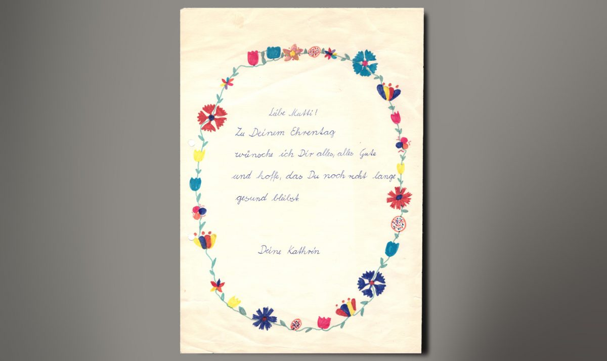 Tochter-Mutter-Geschenkkarte unserer Redakteurin Kathrin Futterlieb-Rose