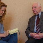 Hans-Joachim Schindler im Interview mit Julia Polony; Foto: Andreas Reichelt