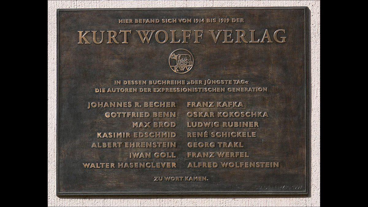 Gedenktafel am ehemaligen Verlagssitz Kreuzstraße 12