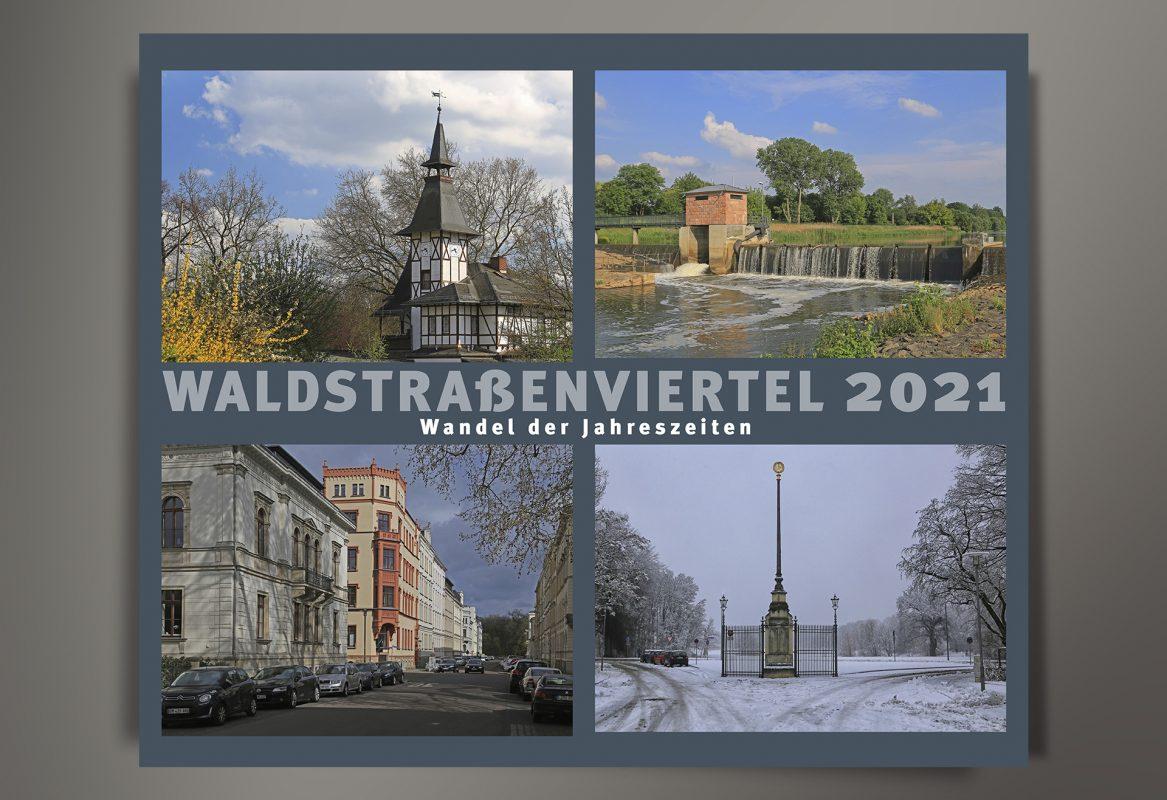Waldstraßenviertel Kalender 2021 Titel Reichelt Kommunikationsberatung