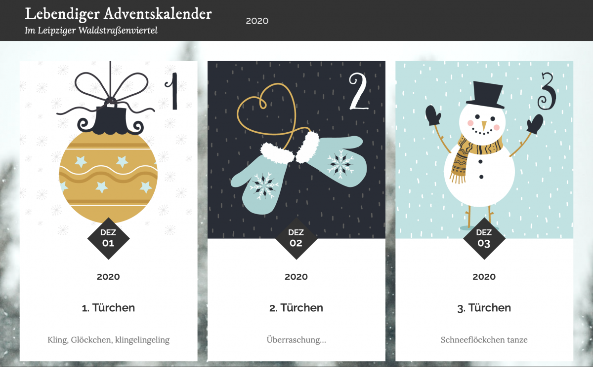 Bildschirmfoto, virtueller Adventskalender, Daniela Busse