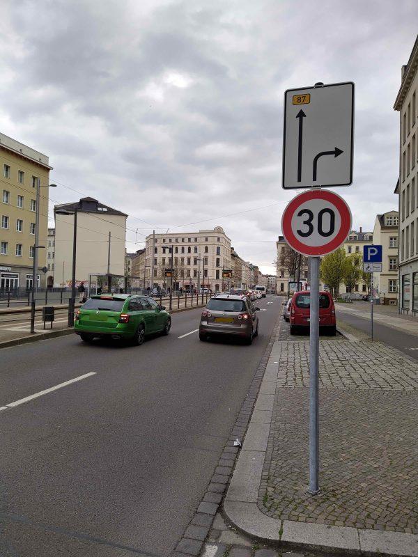 Neue Verkehrsführung Jahnallee