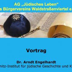 AG Jüdisches Leben: Einladung zum Vortrag mit Dr. Arndt Engelhardt